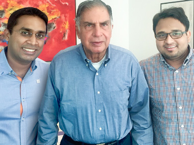 Ratan Tata with TeaBox founders.