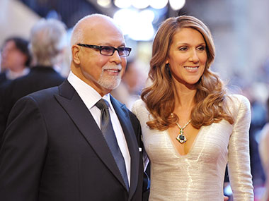 Rene Angelil  and Celine-Dion. Getty Images.