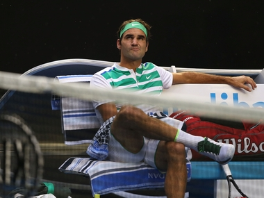 Roger Federer during his third round match against Grigor Dimitrov. Getty