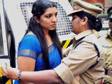 Saritha Nair continues to talk, drags Oomen Chandy's son into the frame/ PTI