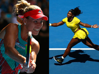 Serena Williams and Angelique Kerber. Reuters/Getty Images