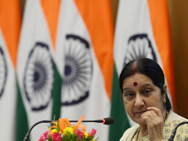 Sushma Swaraj. File photo. AFP