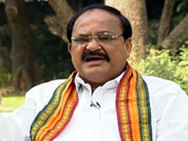 Union Urban Development Minister Venkaiah Naidu . Image courtesy ibnlive