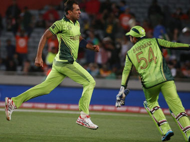 Wahab Riaz's spell to Shane Watson in the World Cup was breathtaking. AFP