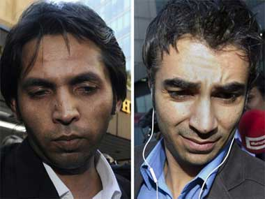 Mohammad Asif and Salman Butt. AFP