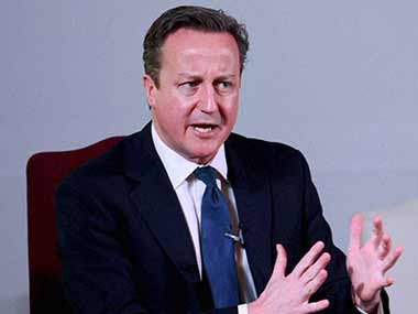 UK Prime Minister David Cameron. PTI