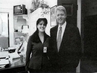 This picture is back in the news as Trump hammers away at Clinton's sexual indiscretions/ Screenshot