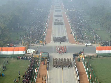 Keeping politics out of Republic Day parade? Image courtesy DD News