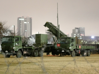 Japan deploys a PAC-3 missile launcher to 'destroy any missile fired by North Korea that threatens the country'. AFP
