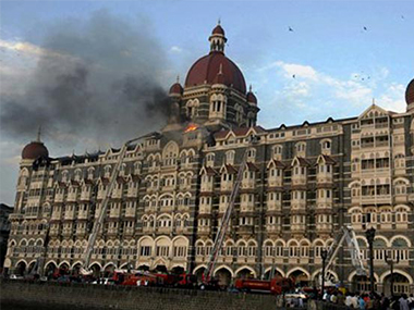 The Taj Mahal Hotel during the 26 November, 2008 attacks. IBNLive