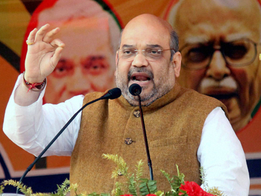 Amit Shah lashed out at Rahul Gandhi over the JNU row. PTI