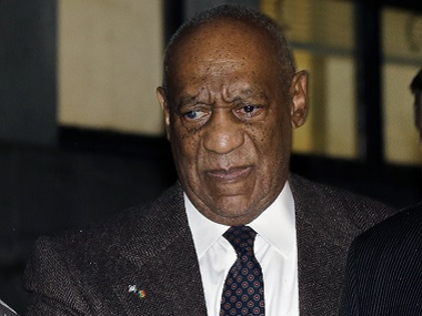 Bill Cosby leaves after a court appearance on  Wednesday. AP