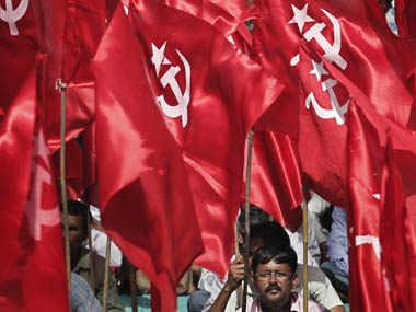 The CPI-M flag. Reuters