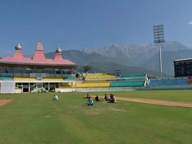 The stadium at Dharamsala. Getty Images