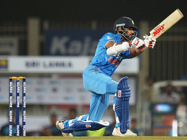 Shikhar Dhawan (51 off 25) smashed his maiden fifty in T20 Internationals to fire India to 196/6. AFP