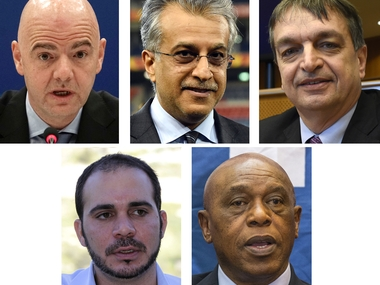 Fifa presidential candidates. AFP