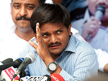 Hardik Patel. Agencies