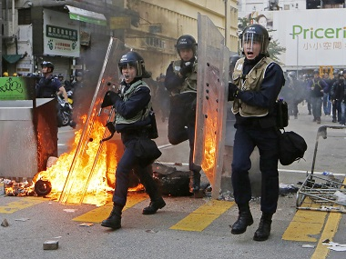 New Year celebrations turn violent: Hong Kong activists, police clash over holiday food