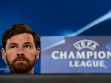Zenit's head coach Andre Villas Boas looks-on during a press conference. AFO