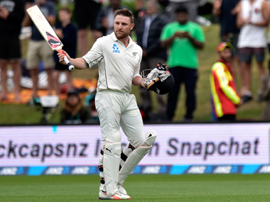 McCullum arrived for his farewell innings at 72-3 but after 25 off 27 deliveries was out. AFP