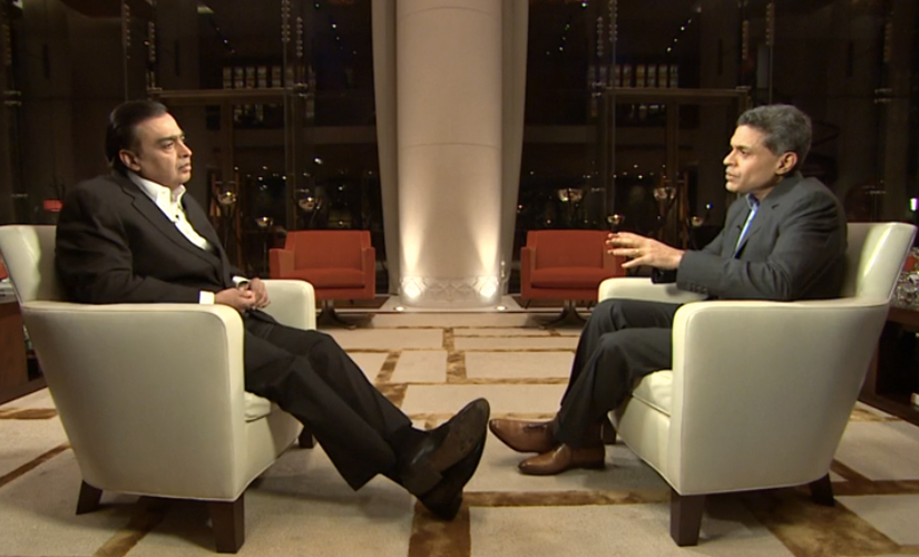Fareed Zakaria in conversation with Mukesh Ambani on the GPS show