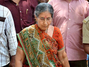 Jashodaben in a file photo. PTI