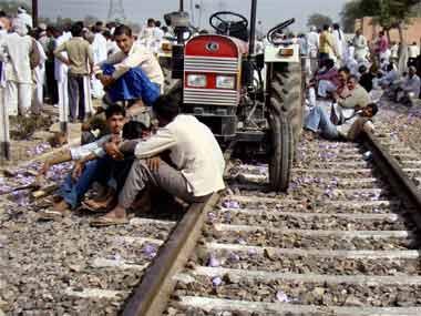 The Jat agitation. File photo. PTI