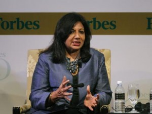 Govt focusing on service sector, only 'lip service' to manufacturing: Kiran Mazumdar-Shaw