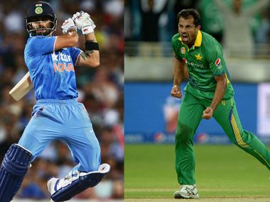 Virat Kohli and Wahab Riaz. Getty Images