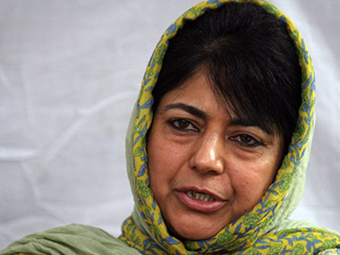 Mehbooba Mufti in a file photo. AFP