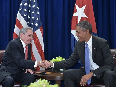 File image of US President Barack Obama (right) and Cuba's President Raul Castro. AFP