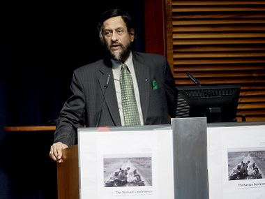 The chairman of the UN's Intergovernmental Panel on Climate Change (IPCC), Rajendra Pachauri, speaks on June 6, 2011 during the opening of the Nansen conference on climate change and displacement in the 21st century in Oslo. AFP PHOTO / Stian Lysberg Solum / AFP / SCANPIX NORWAY / Stian Lysberg Solum