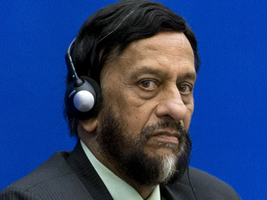 A file photograph of RK Pachauri. AFP