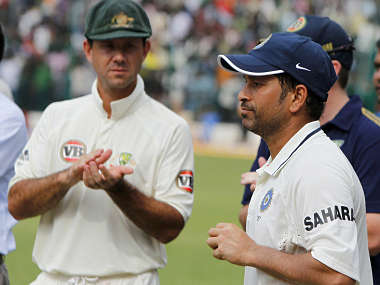File image of Sachin Tendulkar and Ricky Ponting. Reuters