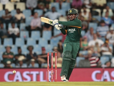 Quinton de Kock scored a hundred in South Africa win. AFP