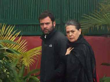 Rahul and Sonia Gandhi. File photo. PTI