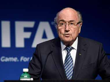 Tainted former Fifa president Sepp Blatter has backed newly elected president Infantino. AP