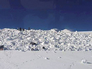 Surviving soldier being flown from Siachen Glacier to Delhi hospital