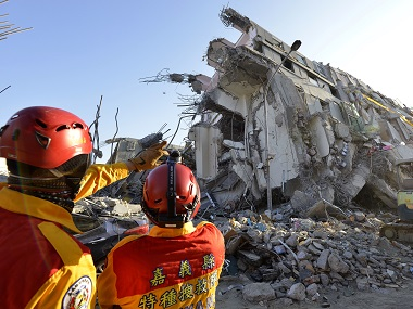Taiwan to seize assets of collapsed building developer following quake which left 90 dead