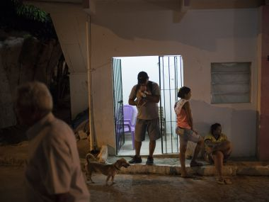 A family in Brazil which is infected with Zika. AP