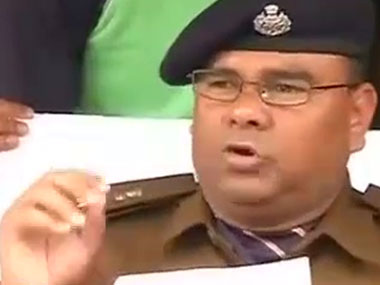 Ghaziabad SSP released some details of the abduction. Image courtesy: CNN-IBN screengrab