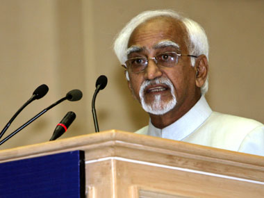 File image of Vice President Hamid Ansari. Reuters