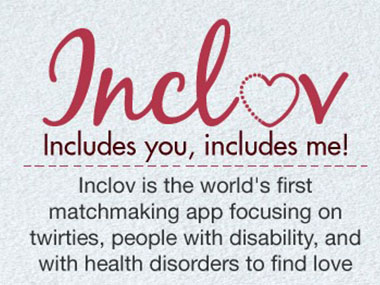 Inclov - an inclusive matchmaking app. Image Courtesy: Facebook