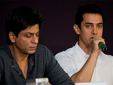 Shahrukh Khan and Aamir Khan. File photo. Getty images