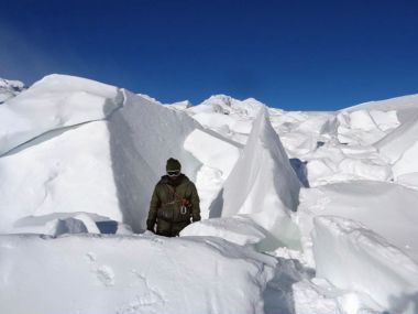 A file image of an Indian soldier in Siachen. AFP