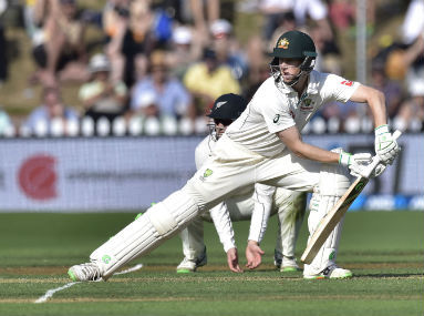 Australia batsman Adam Voges during the first Test  against New Zealand in Wellington on Friday. AFP