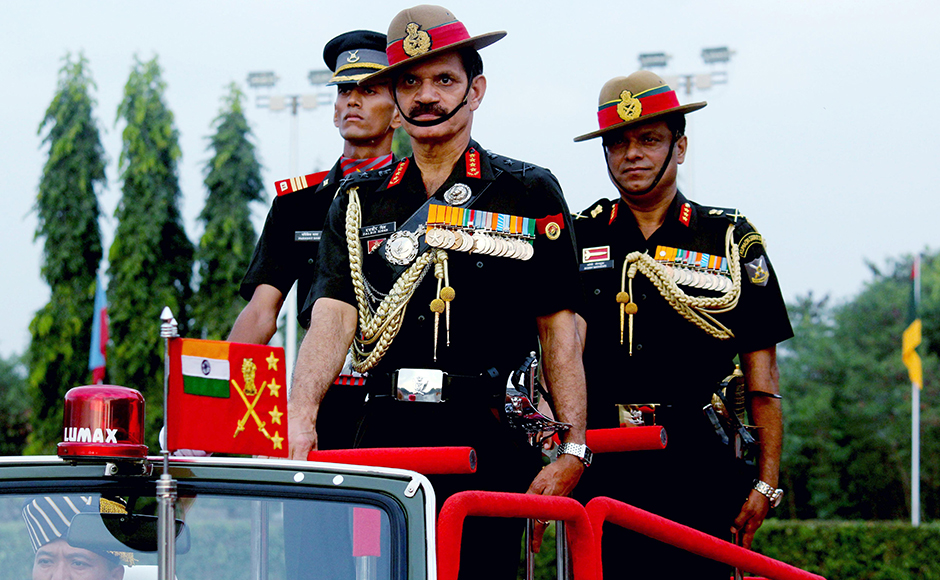 Army Chief General Dalbir Singh Suhag reviewed the passing out parade of the Indian Army cadets of the Officers Training at the OTA grounds in Chennai, India on March 12, 2016. (SOLARIS IMAGES)