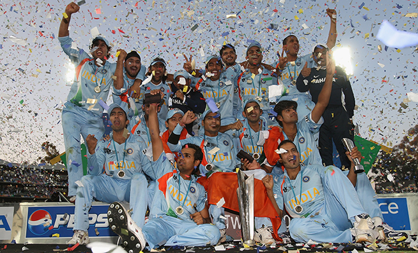 India went on to become the first ever T20 Champions beating rivals Pakistan to win the thrilling final of by five runs. Getty Images