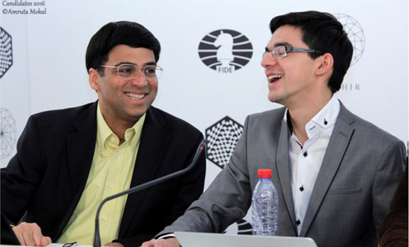 Anand and Anish (right) are good friends. In fact the latter had helped the Indian in his preparation for the World Championship Match in 2010. Amruta Mokal