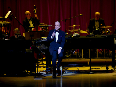 Frank Sinatra Jr. performing at an event. Getty Images